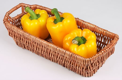 Stock Photo: 1525R-14812 yellow peppers in basket