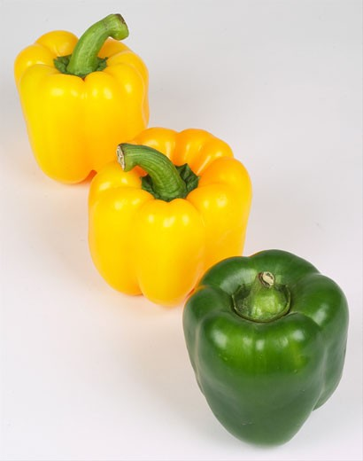 peppers in a row  : Stock Photo