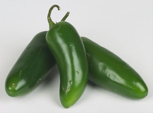 Stock Photo: 1525R-14839 jalapeno peppers