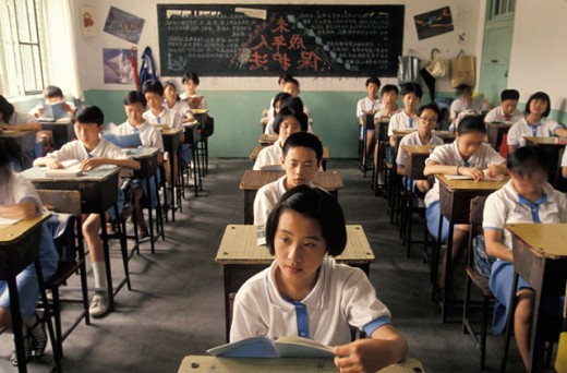 Chinese Schoolkids Sitting in Class : Stock Photo