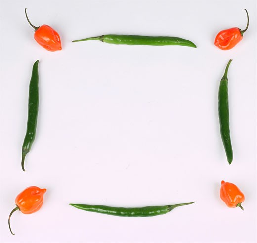 Stock Photo: 1525R-15026 chili peppers