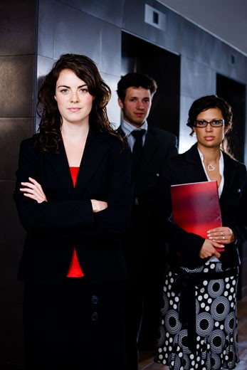 Stock Photo: 1525R-153009   Happy young business people