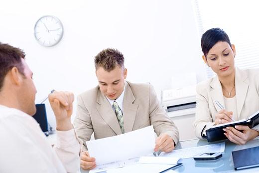 Stock Photo: 1525R-153334 Job Interview