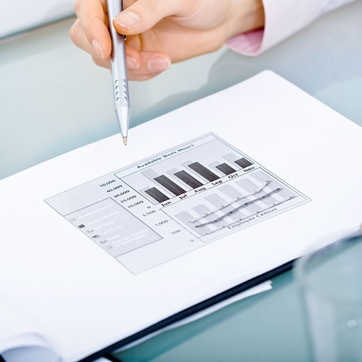 Stock Photo: 1525R-153377 Diagram on table