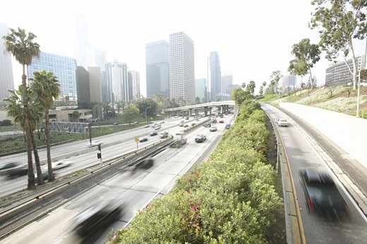 Highway with cars  : Stock Photo