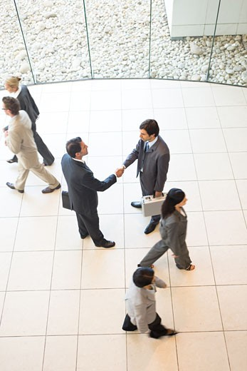 Stock Photo: 1525R-155455 group of business people shot from above