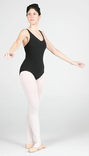 Stock Photo: 1525R-16550 Ballerina in a ballet dance pose