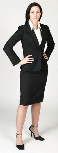 Stock Photo: 1525R-16959 Confident businesswoman in black suit