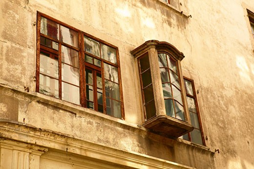 Old windows in house  : Stock Photo