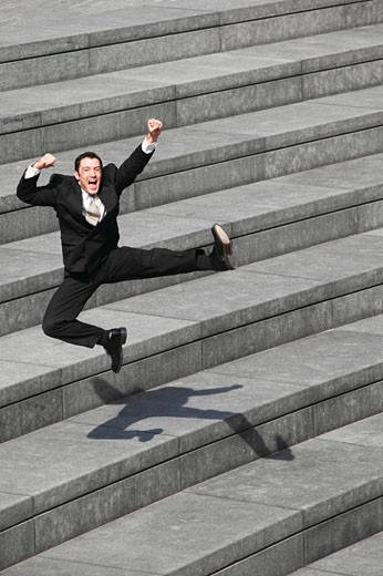 Stock Photo: 1525R-17230 Excited businessman
