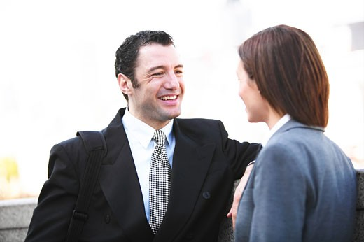 Laughing businesspeople  : Stock Photo