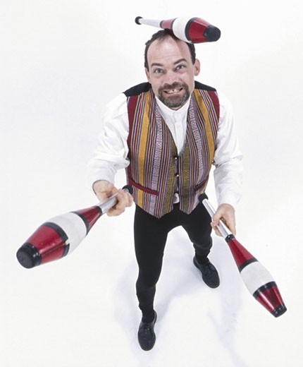 Stock Photo: 1525R-17438 man juggling