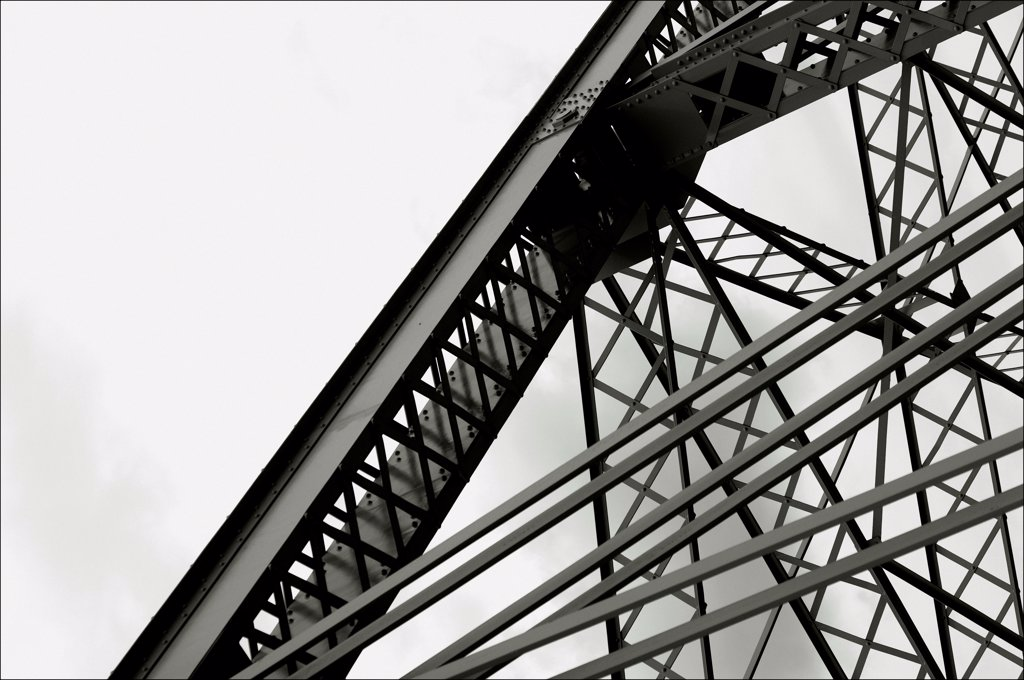 Girder and framing structure on bridge. : Stock Photo
