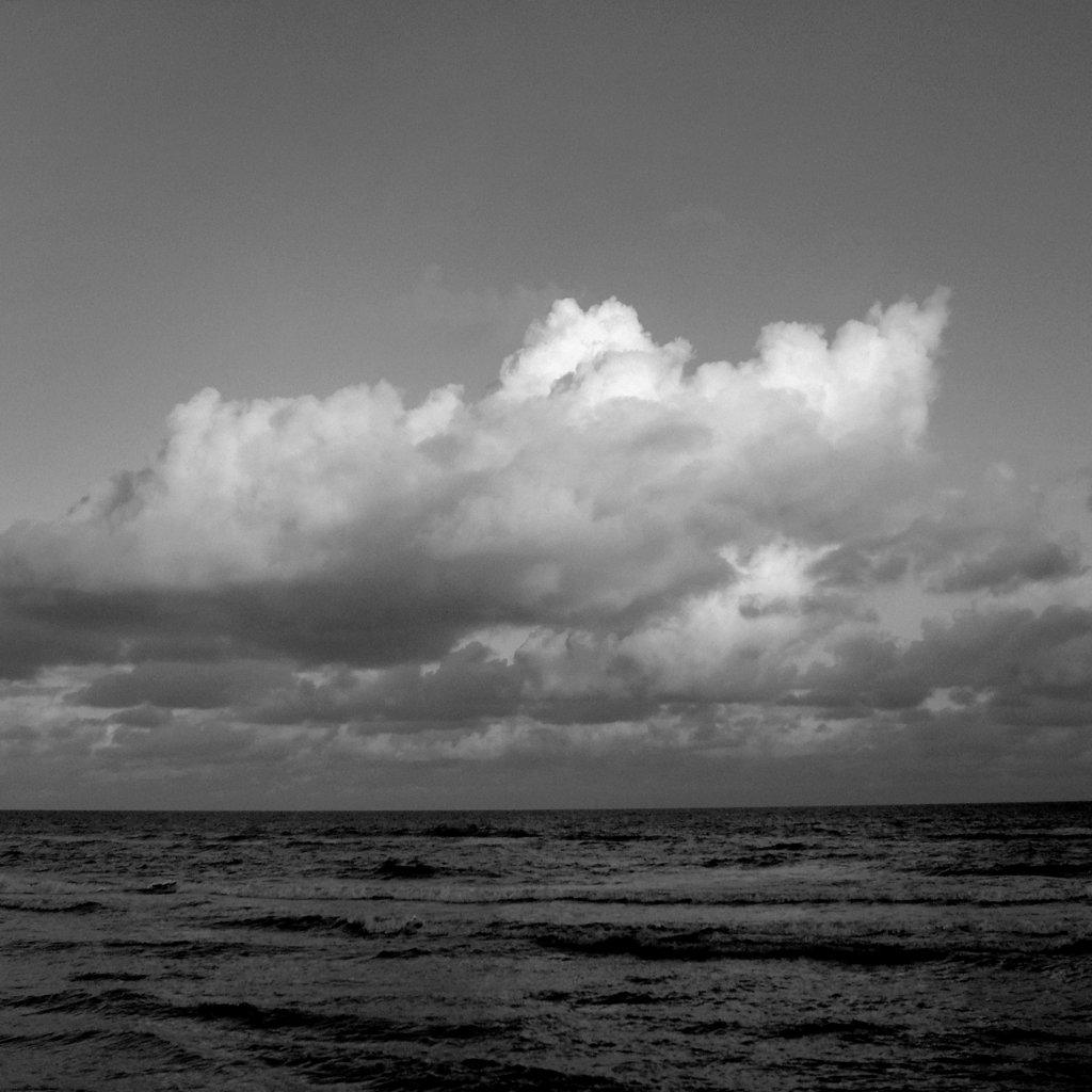 Storm clouds forming over ocean. : Stock Photo