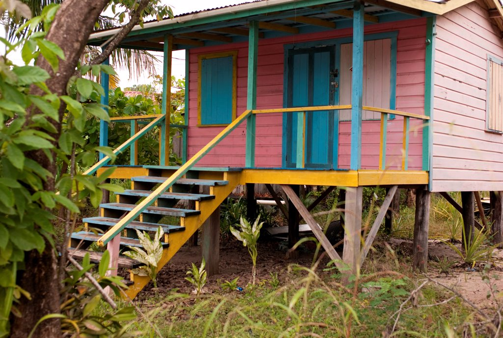 Stock Photo: 1525R-195374 Placencia, Building