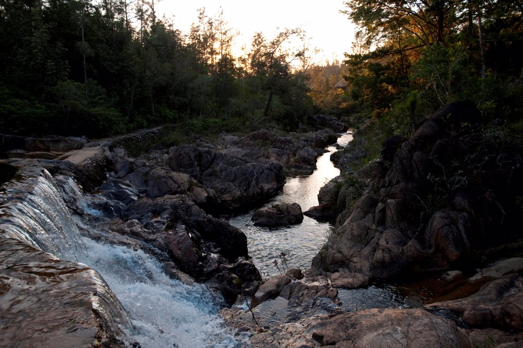 Mountain Pine Ridge Reserve, Waterfall : Stock Photo