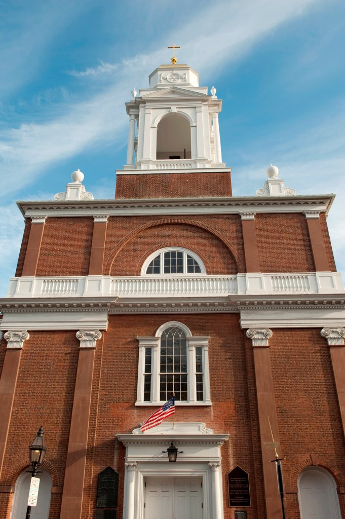 Stock Photo: 1525R-195700 Old North Church in Boston, Massachusetts, USA
