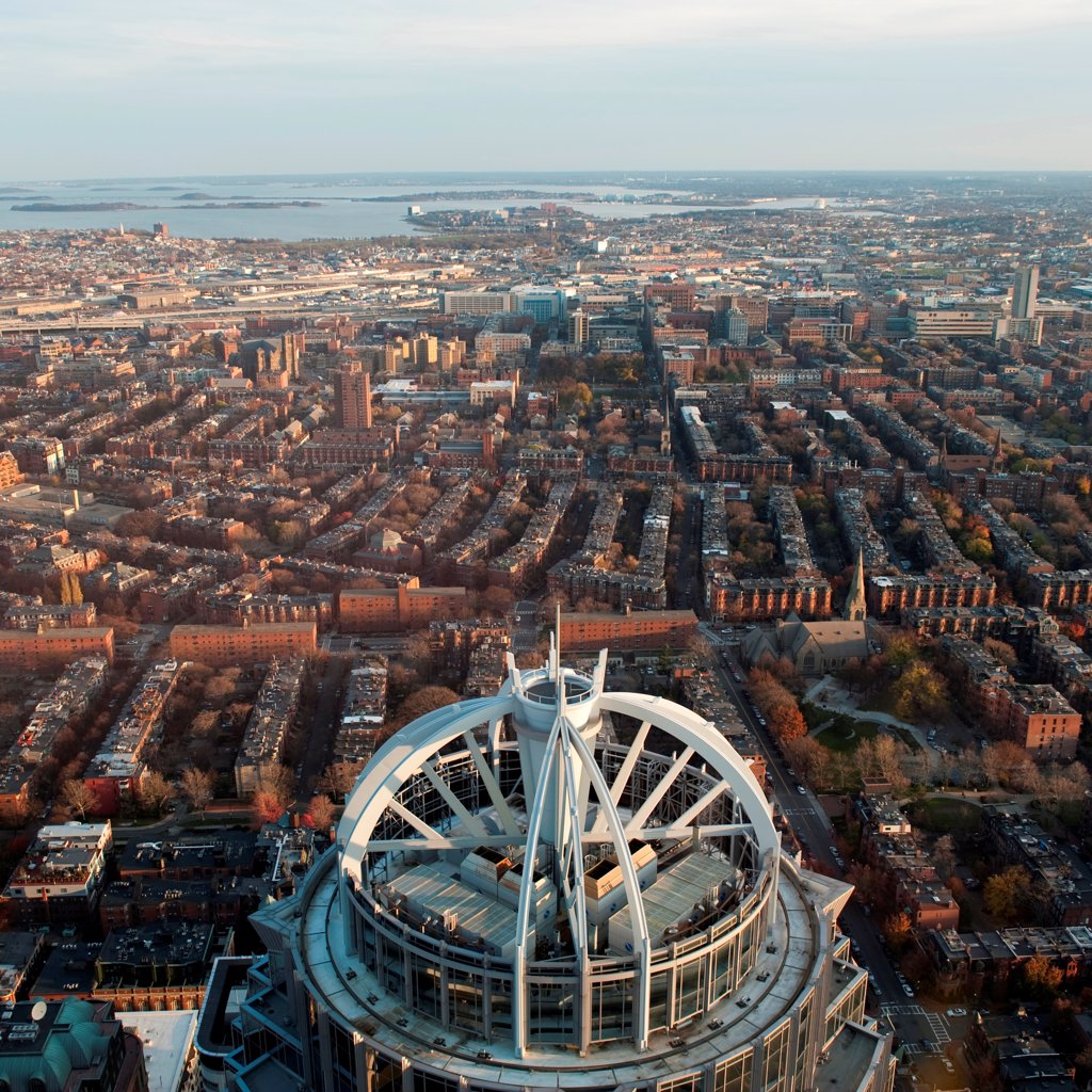 Stock Photo: 1525R-195918 Aerial view of the city of Boston, Massachusetts, USA