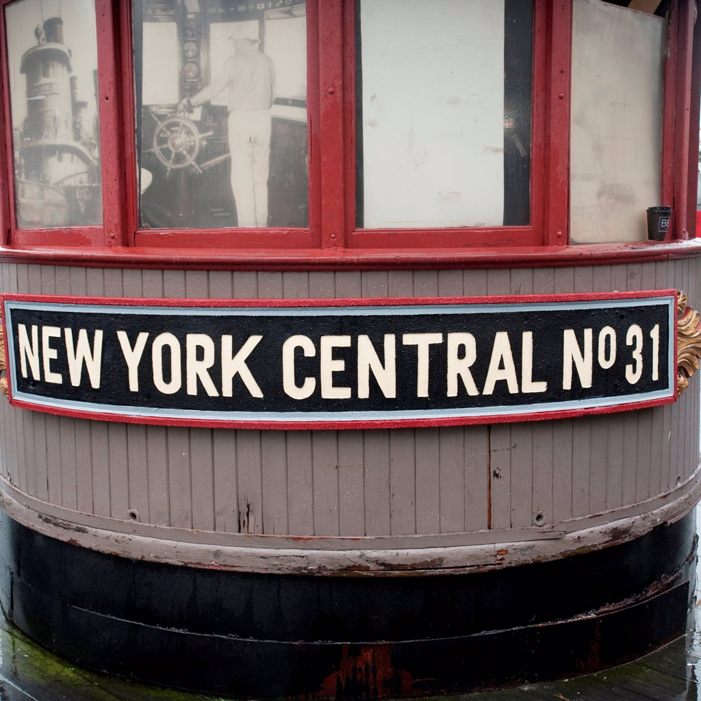 Stock Photo: 1525R-197296 Boat docked at Pier 17 in Manhattan, New York City, U.S.A.