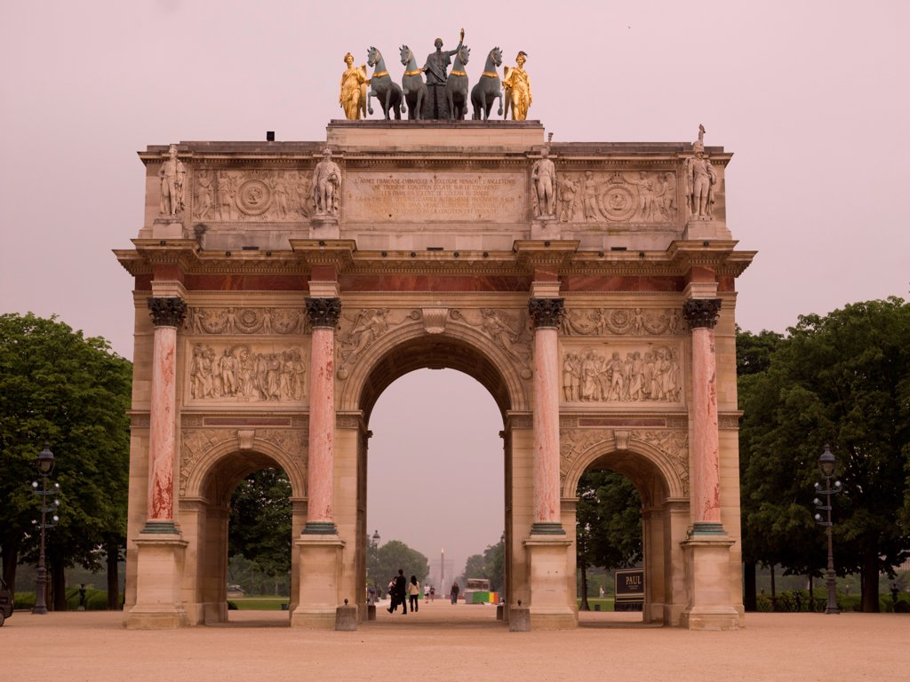 Stock Photo: 1525R-197423 The Arc de Triomphe in Paris France