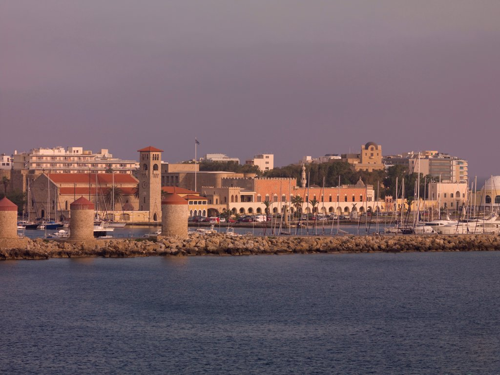 Stock Photo: 1525R-197785 View of the City of Rhodes in Greece