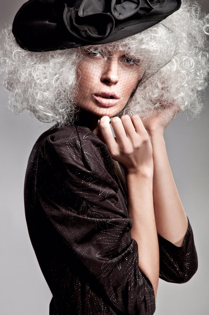 Stock Photo: 1525R-202943 Fashion style portrait of a beautiful woman