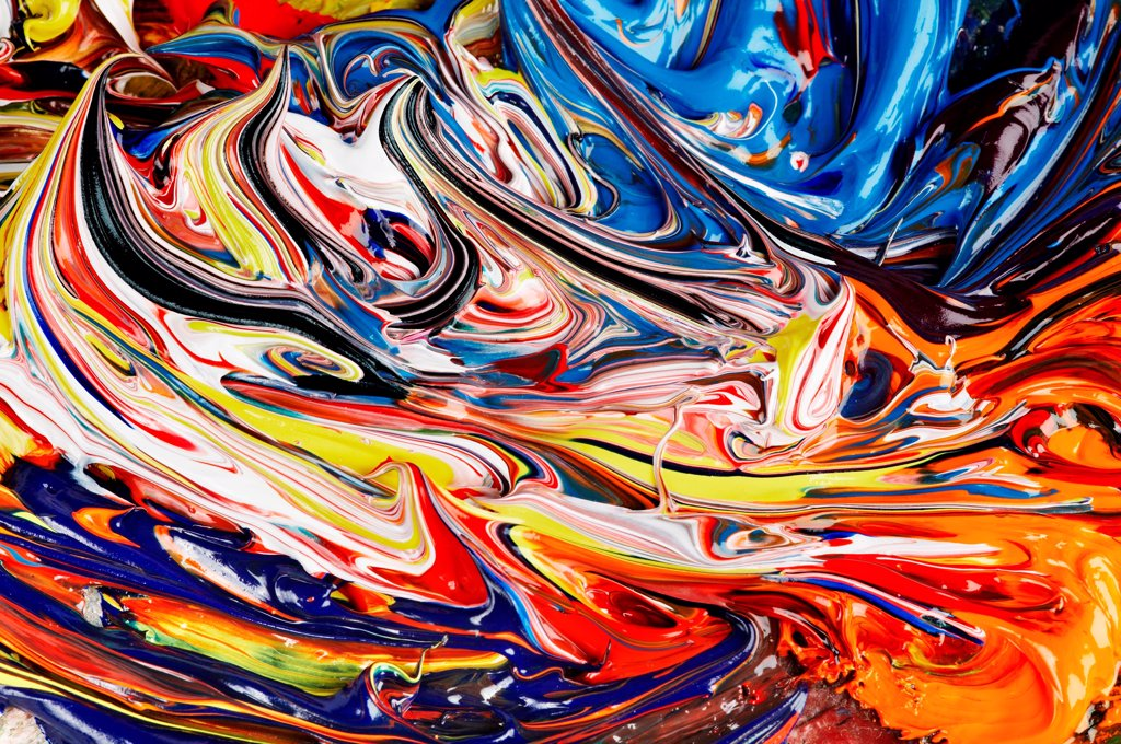 Abstract background of mixed oil paint : Stock Photo