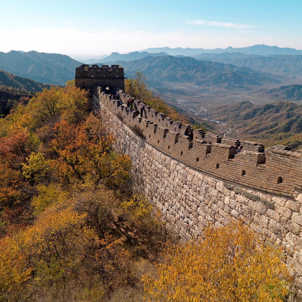 Stock Photo: 1525R-206158 Mutianyu section of the Great Wall of China, Beijing, China