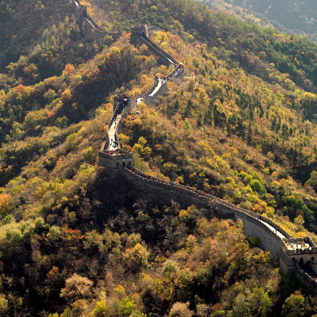 Stock Photo: 1525R-206168 Mutianyu section of the Great Wall of China, Beijing, China