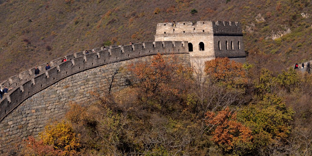 Stock Photo: 1525R-206191 Mutianyu section of the Great Wall of China, Beijing, China
