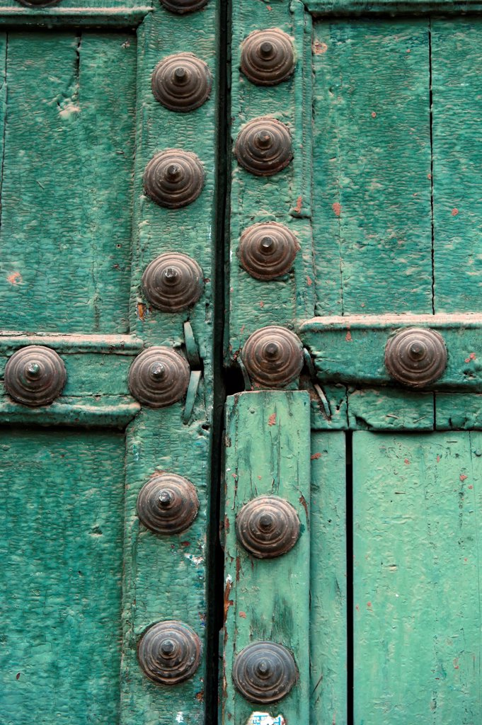 Stock Photo: 1525R-207720 Detail of a closed door, Plaza De Las Nazarenas, Cuzco, Peru