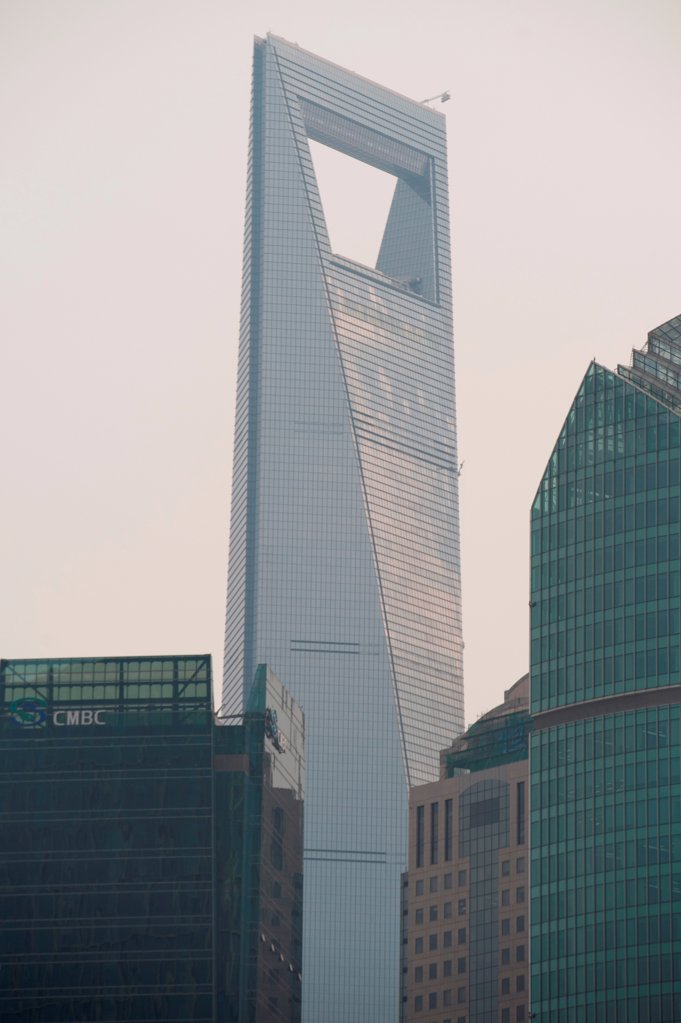 Stock Photo: 1525R-208006 Skyscrapers in a city, Lujiazui, Pudong, Shanghai, China