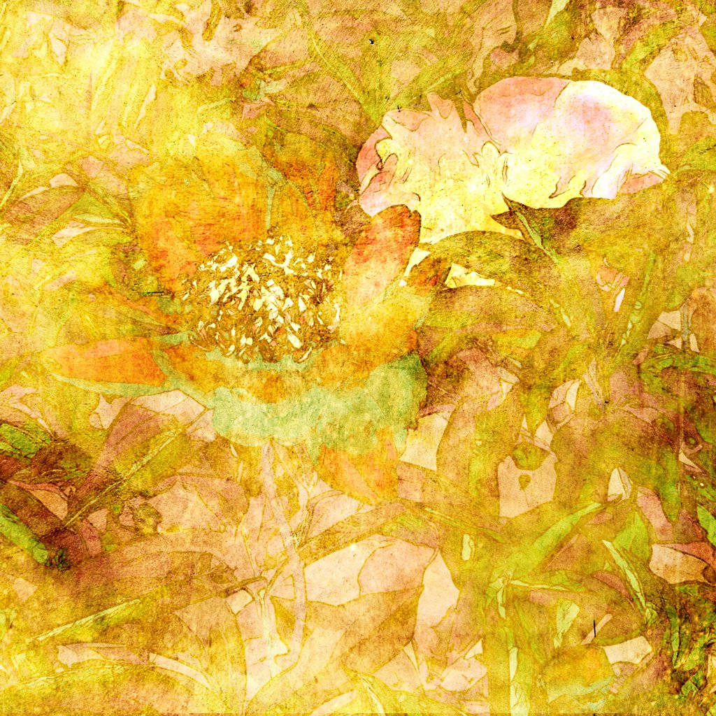 Stock Photo: 1525R-210884 art grunge floral vintage background