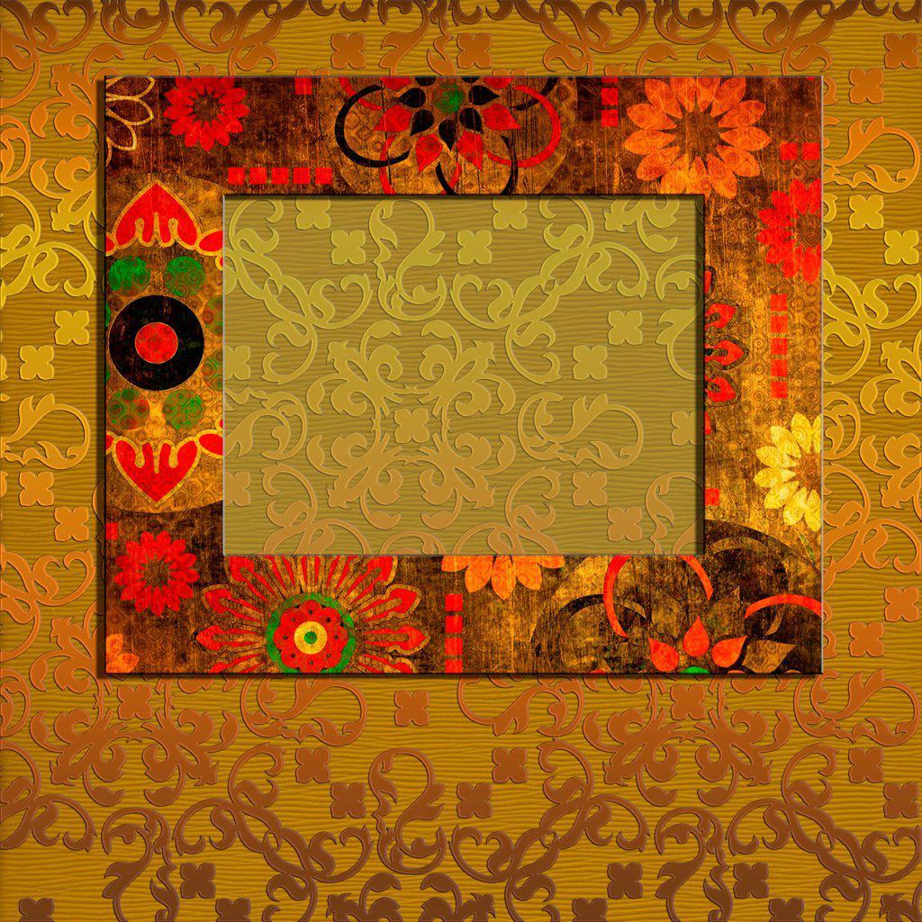 art frame on pattern background : Stock Photo