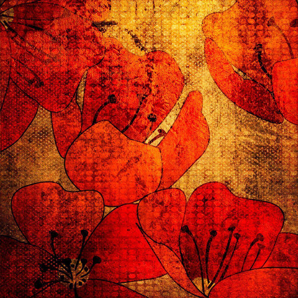 Stock Photo: 1525R-216307 art grunge vintage floral background