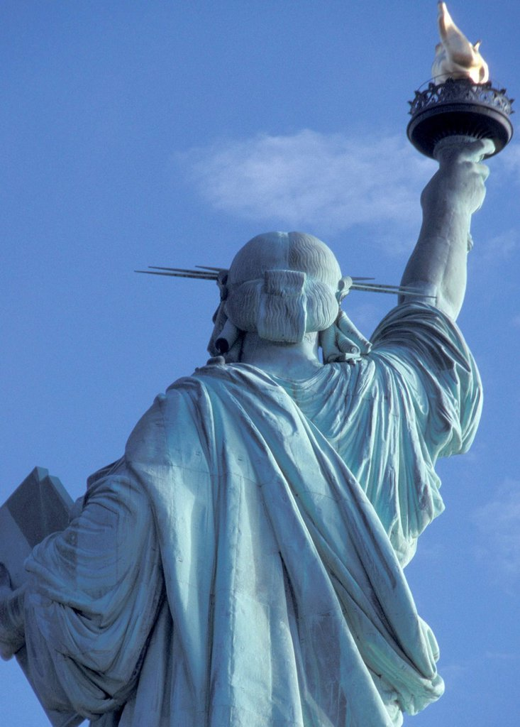 Stock Photo: 1525R-236289 Statue of Liberty Back