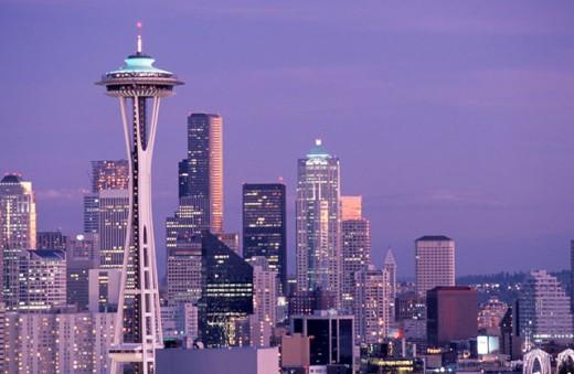 Stock Photo: 1525R-36301 Space Needle, Seattle, Washington