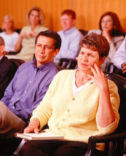 Jury Listening to Case : Stock Photo