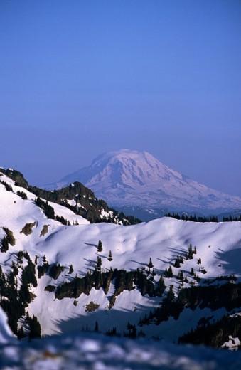 Mount Rainier In Background : Stock Photo