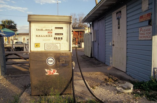 Stock Photo: 1525R-39970 Rural Gas Pump