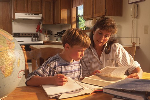 Stock Photo: 1525R-41565 Help with Homework