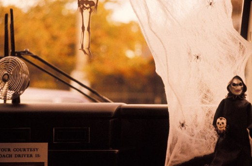 Halloween Decorated Cab : Stock Photo