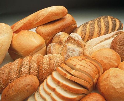 various bread items : Stock Photo