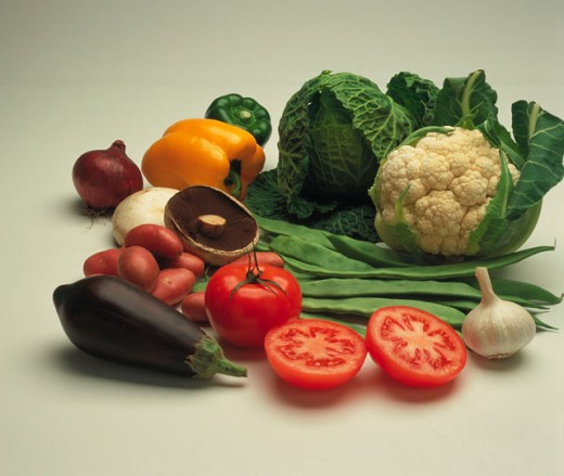 various  fruit and vegetable items : Stock Photo