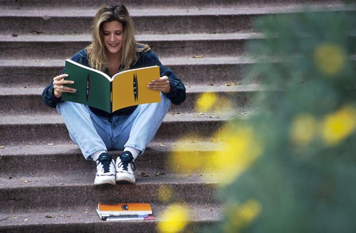 Stock Photo: 1525R-48787 Girl Reading
