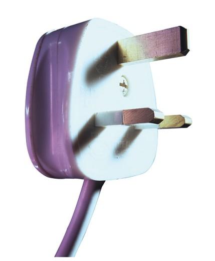 domestic 3 pin plug. : Stock Photo