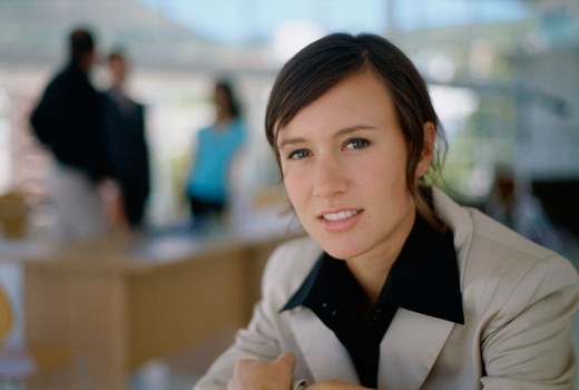 Stock Photo: 1525R-5372 Portrait of a businesswoman smiling