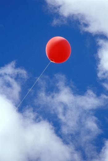 Red Balloon and Blue Sky : Stock Photo