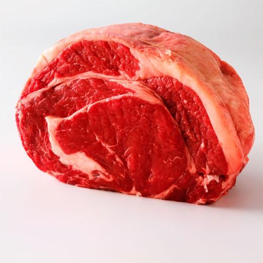 Close-up of a sirloin steak : Stock Photo
