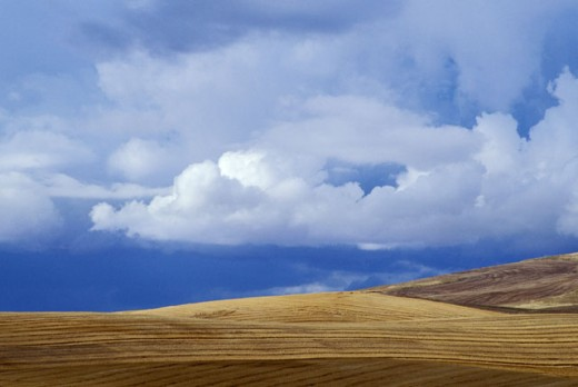 Cloud over a landscape : Stock Photo